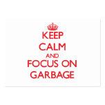 Behalten Sie Ruhe und Fokus auf Abfall