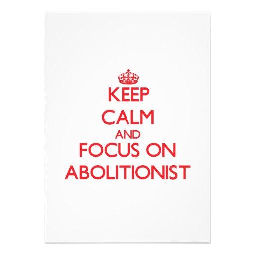Behalten Sie Ruhe und Fokus auf ABOLITIONISTEN Individuelle Einladung