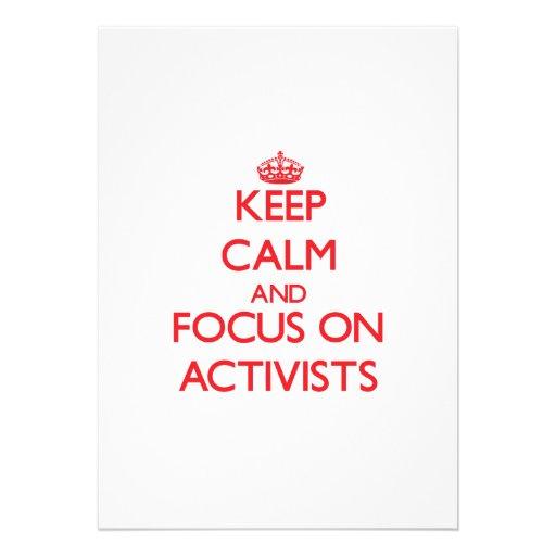 Behalten Sie Ruhe und Fokus auf AKTIVISTEN Personalisierte Einladungen