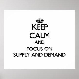 Behalten Sie Ruhe und Fokus auf Angebot und Plakatdrucke