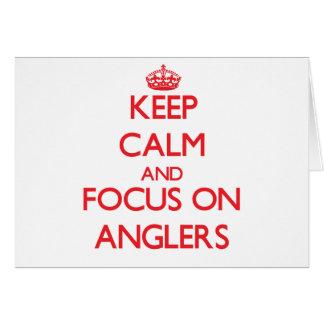 Behalten Sie Ruhe und Fokus auf ANGLERN