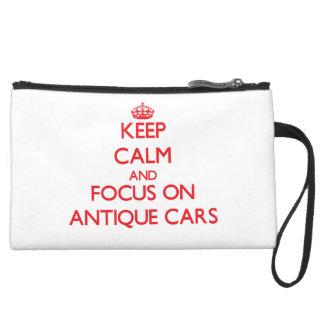 Behalten Sie Ruhe und Fokus auf antiken Autos