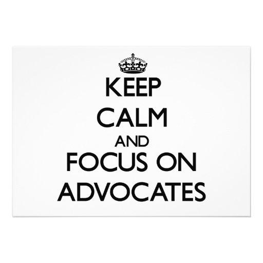 Behalten Sie Ruhe und Fokus auf Anwälten Personalisierte Einladungen