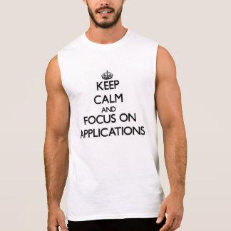 Behalten Sie Ruhe und Fokus auf Anwendungen