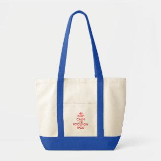 behalten Sie Ruhe UND FOKUS AUF Auflagen Einkaufstaschen