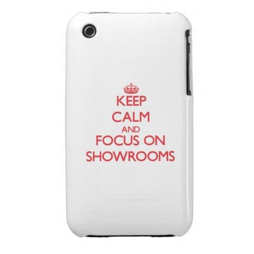 Behalten Sie Ruhe und Fokus auf Ausstellungsraum iPhone 3 Hülle