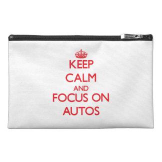 Behalten Sie Ruhe und Fokus auf AUTOS