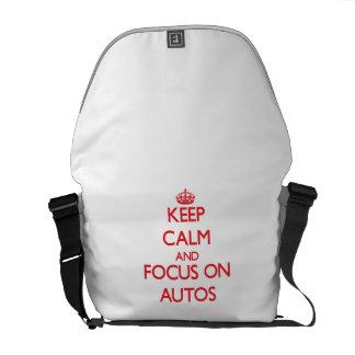 Behalten Sie Ruhe und Fokus auf AUTOS Kurier Tasche