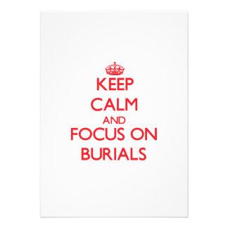 Behalten Sie Ruhe und Fokus auf Beerdigungen