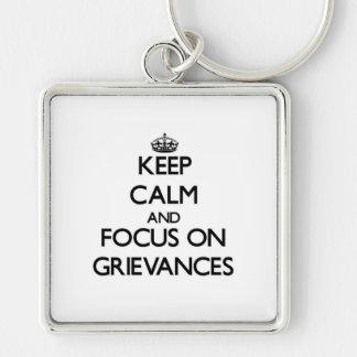 Behalten Sie Ruhe und Fokus auf Beschwerden Schlüsselbänder