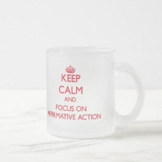 Behalten Sie Ruhe und Fokus auf BESTÄTIGENDER