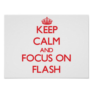 Behalten Sie Ruhe und Fokus auf Blitz Poster