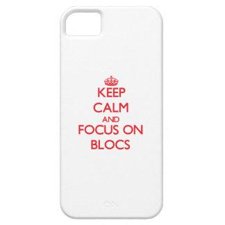 Behalten Sie Ruhe und Fokus auf Blöcken Etui Fürs iPhone 5