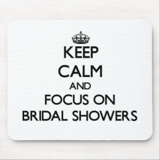 Behalten Sie Ruhe und Fokus auf Brautpartys Mauspad