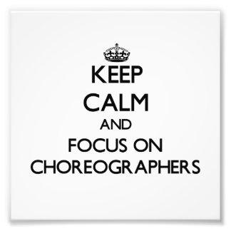 Behalten Sie Ruhe und Fokus auf Choreografen
