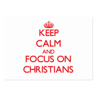 Behalten Sie Ruhe und Fokus auf Christen