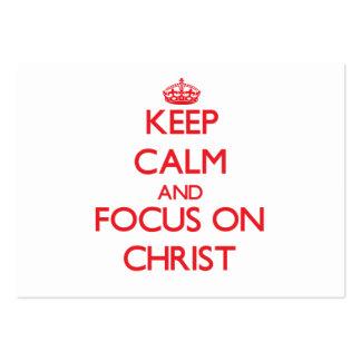 Behalten Sie Ruhe und Fokus auf Christus
