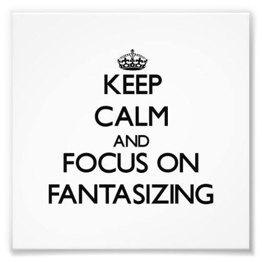 Behalten Sie Ruhe und Fokus auf dem Fantasieren Fotos
