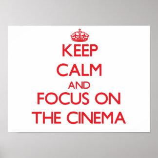 Behalten Sie Ruhe und Fokus auf dem Kino