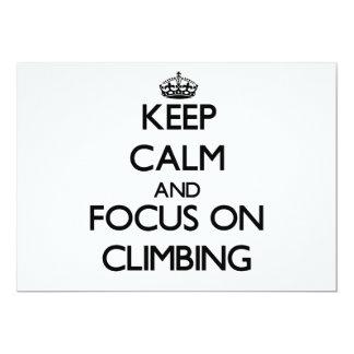 Behalten Sie Ruhe und Fokus auf dem Klettern 12,7 X 17,8 Cm Einladungskarte