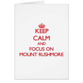 Behalten Sie Ruhe und Fokus auf dem Mount Rushmore Karte