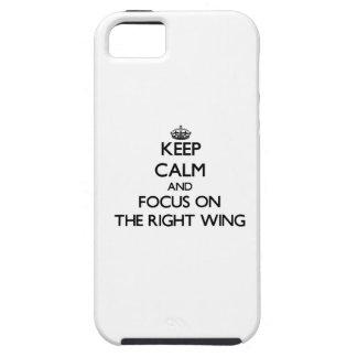Behalten Sie Ruhe und Fokus auf dem rechten Flügel Etui Fürs iPhone 5