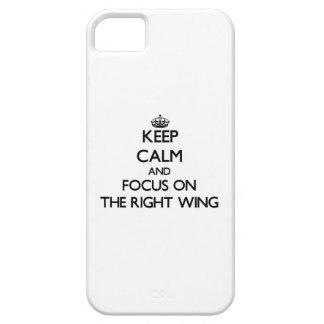 Behalten Sie Ruhe und Fokus auf dem rechten Flügel Schutzhülle Fürs iPhone 5