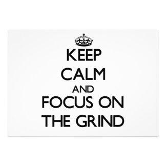 Behalten Sie Ruhe und Fokus auf dem Schleifen
