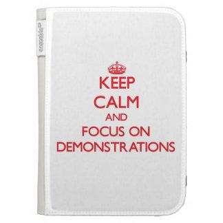 Behalten Sie Ruhe und Fokus auf Demonstrationen