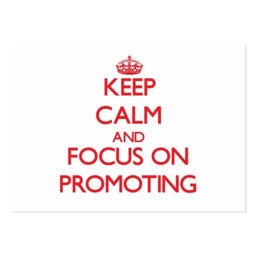 Behalten Sie Ruhe und Fokus auf der Förderung Visitenkarten Vorlagen