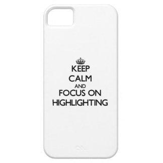 Behalten Sie Ruhe und Fokus auf der Hervorhebung Schutzhülle Fürs iPhone 5