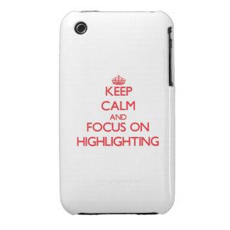 Behalten Sie Ruhe und Fokus auf der Hervorhebung iPhone 3 Cover