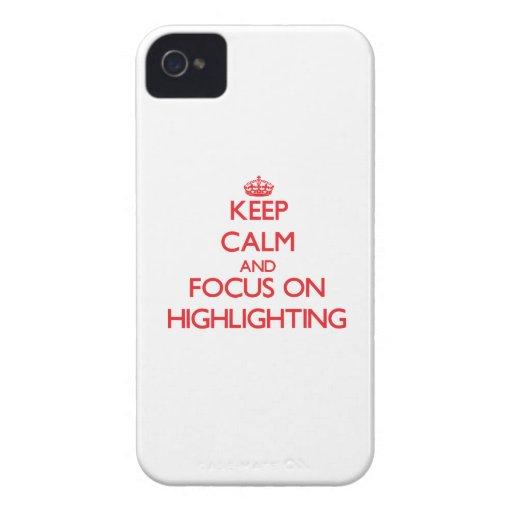 Behalten Sie Ruhe und Fokus auf der Hervorhebung iPhone 4 Case-Mate Hülle