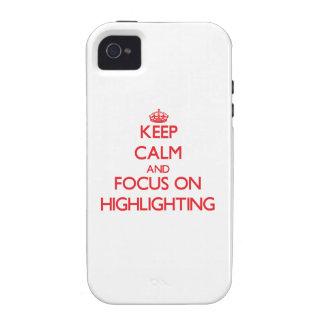 Behalten Sie Ruhe und Fokus auf der Hervorhebung iPhone 4/4S Hülle