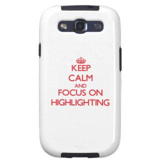 Behalten Sie Ruhe und Fokus auf der Hervorhebung Galaxy S3 Schutzhülle