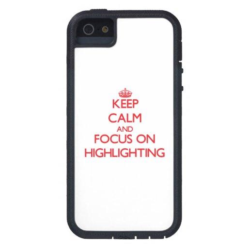 Behalten Sie Ruhe und Fokus auf der Hervorhebung Hülle Fürs iPhone 5