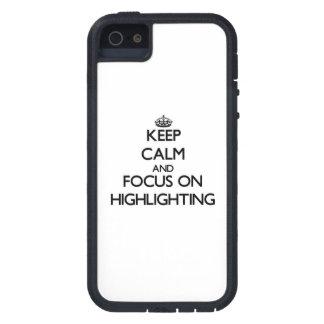 Behalten Sie Ruhe und Fokus auf der Hervorhebung iPhone 5 Case