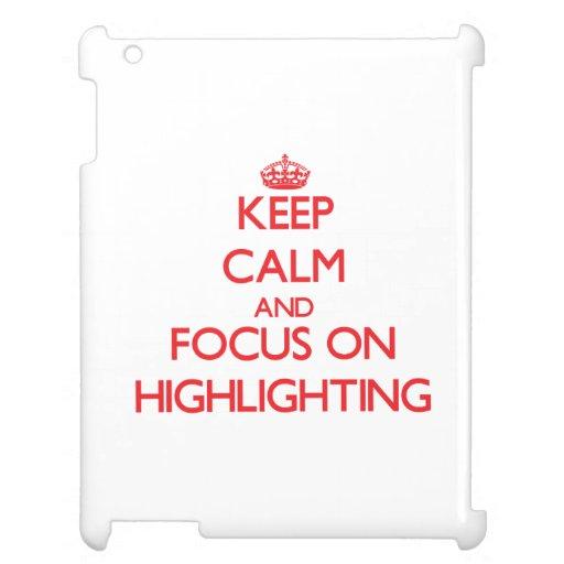 Behalten Sie Ruhe und Fokus auf der Hervorhebung iPad Cover