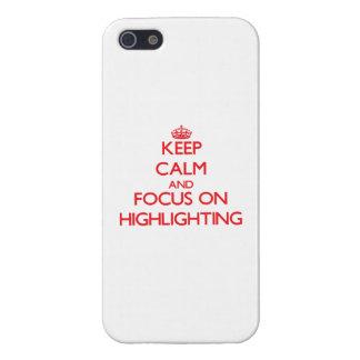 Behalten Sie Ruhe und Fokus auf der Hervorhebung iPhone 5 Cover
