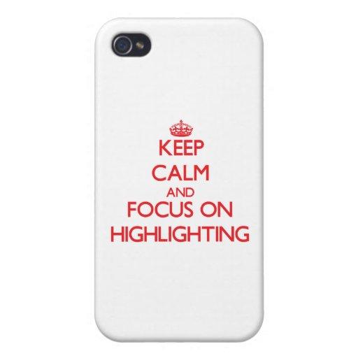 Behalten Sie Ruhe und Fokus auf der Hervorhebung iPhone 4/4S Hüllen