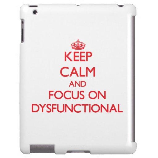 Behalten Sie Ruhe und Fokus auf dysfunktionellem