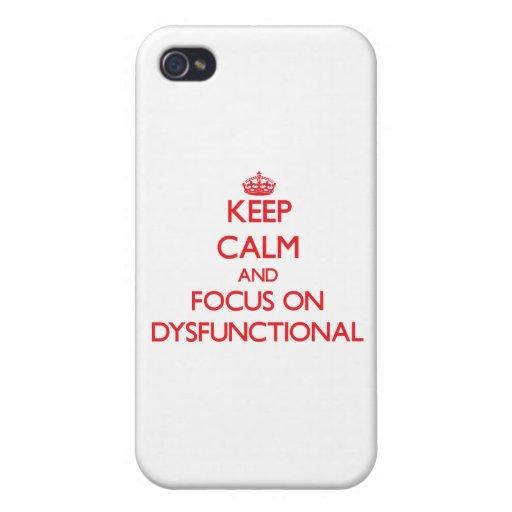 Behalten Sie Ruhe und Fokus auf dysfunktionellem Schutzhülle Fürs iPhone 4