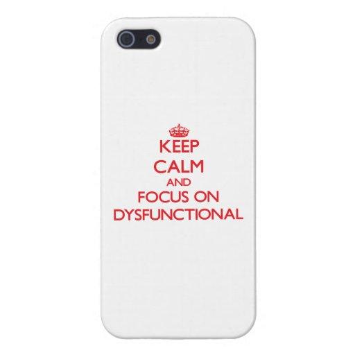 Behalten Sie Ruhe und Fokus auf dysfunktionellem iPhone 5 Case
