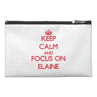 Behalten Sie Ruhe und Fokus auf Elaine