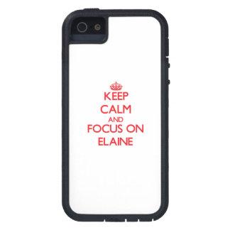 Behalten Sie Ruhe und Fokus auf Elaine iPhone 5 Schutzhüllen