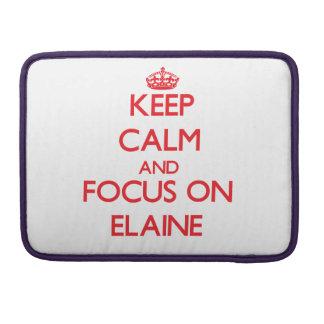 Behalten Sie Ruhe und Fokus auf Elaine Sleeves Für MacBook Pro