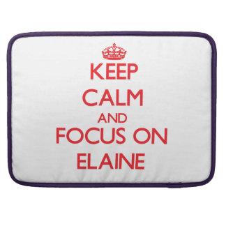 Behalten Sie Ruhe und Fokus auf Elaine Sleeve Für MacBook Pro