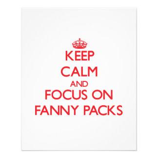 Behalten Sie Ruhe und Fokus auf Fanny-Sätzen Flyers