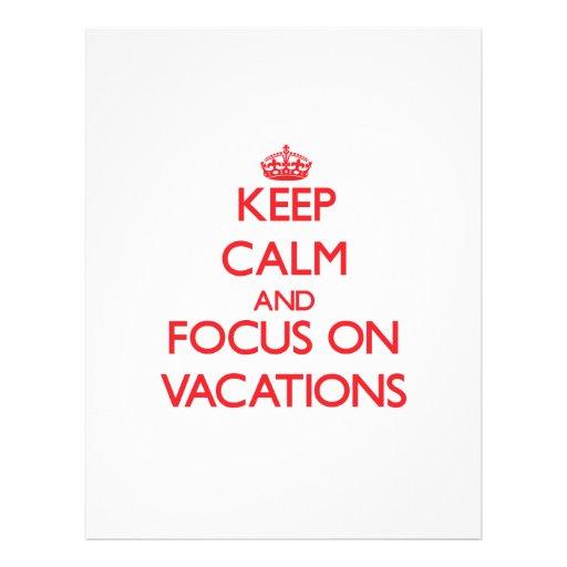 Behalten Sie Ruhe und Fokus auf Ferien Bedruckte Flyer