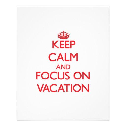 Behalten Sie Ruhe und Fokus auf Ferien Individuelle Flyer